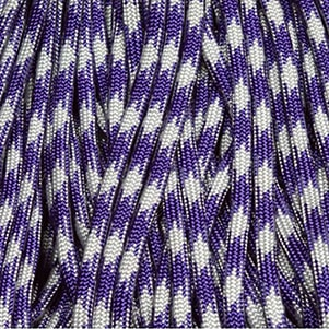 Amethyst and Silver Paracord